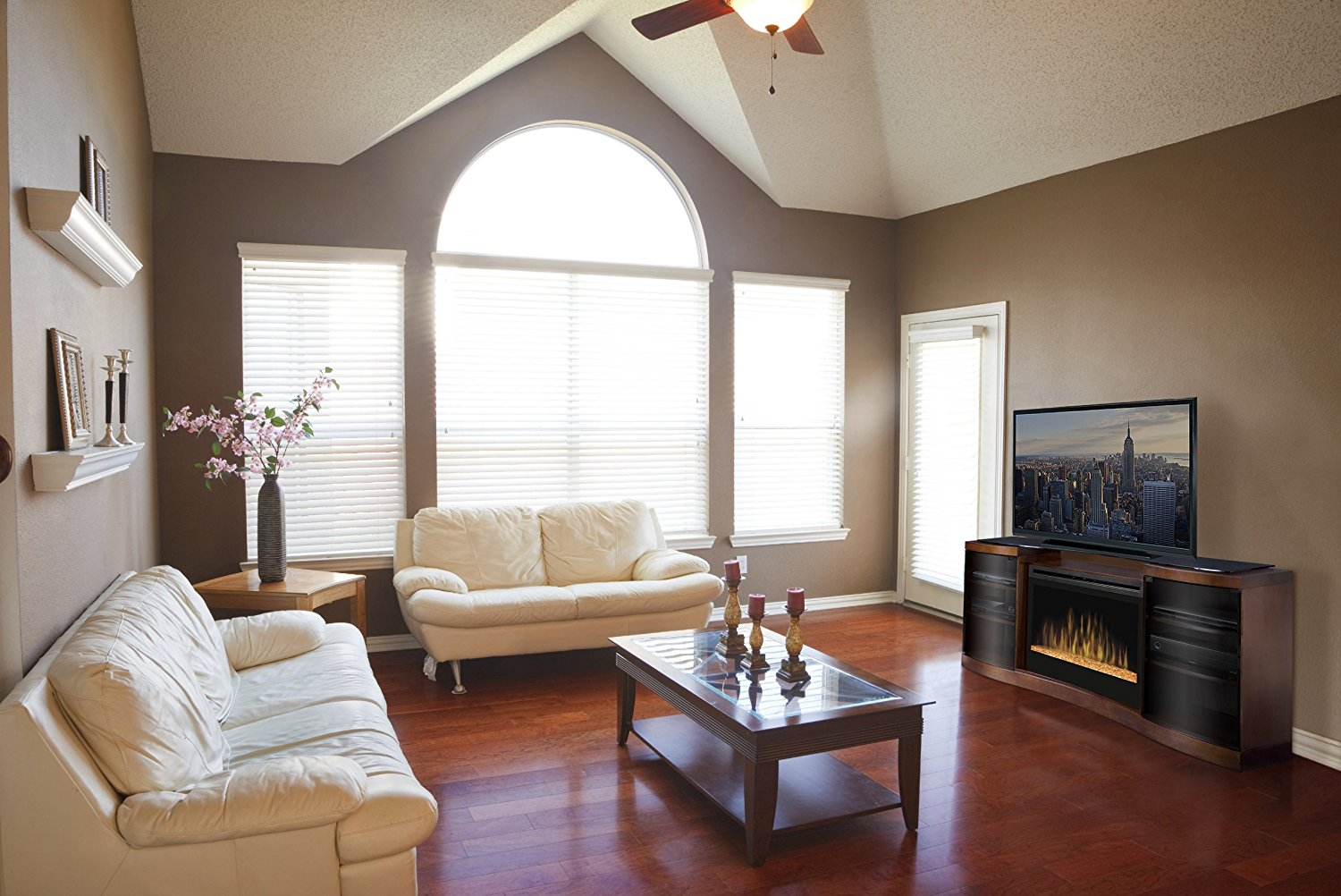 benefits of entertainment center with electric powered fireplace