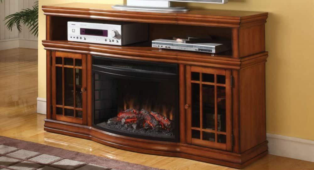 Pleasing 57 Inch Dwyer Tv Stand With Electric Fireplace Burnished Download Free Architecture Designs Scobabritishbridgeorg