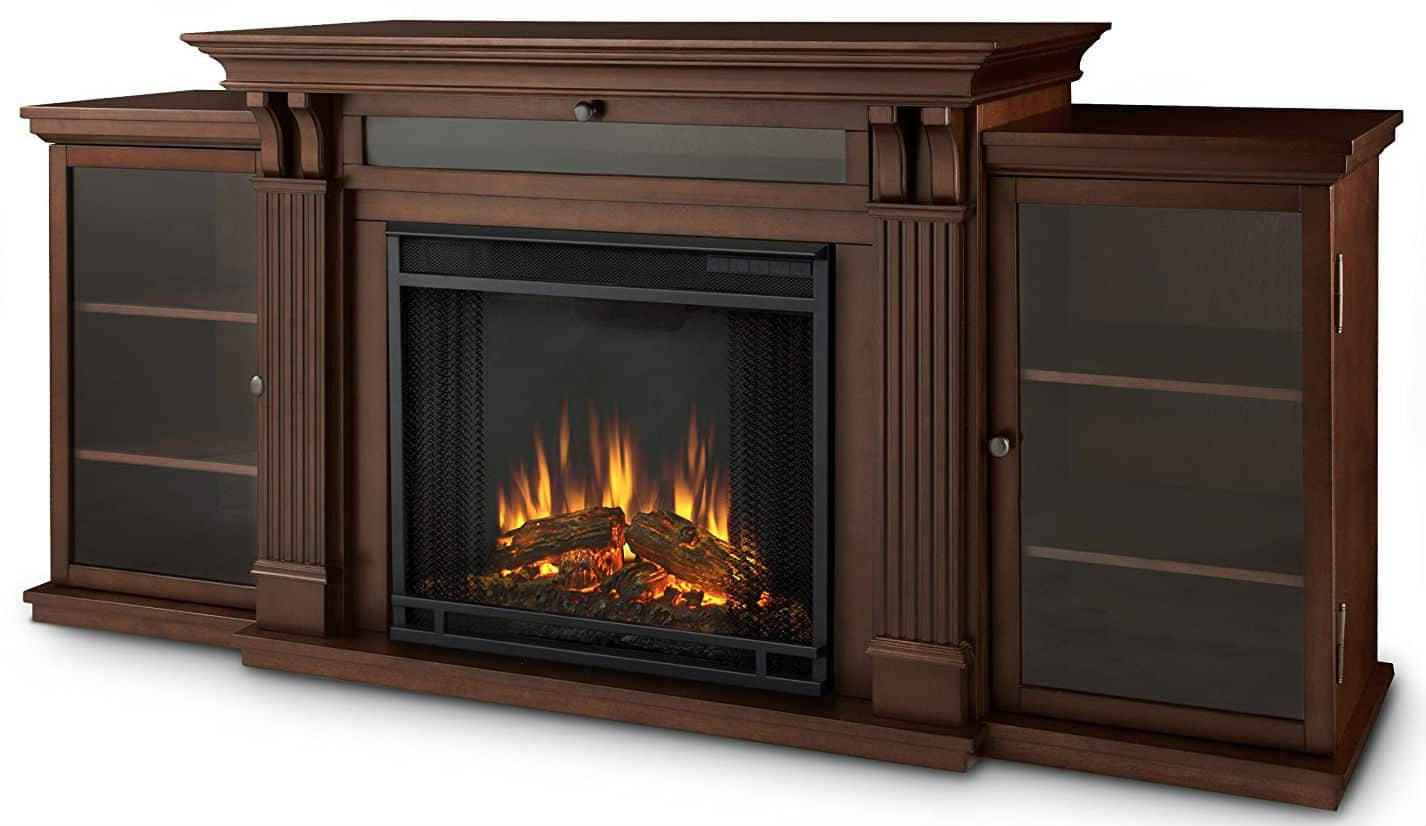Real Flame Calie Entertainment Unit with Electric Fireplace
