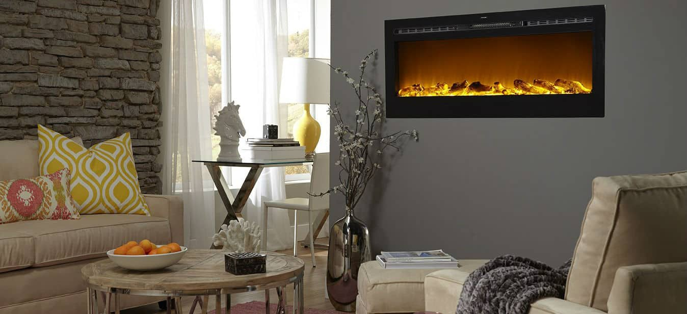 Touchstone Sideline Built In Recessed Electric Fireplace